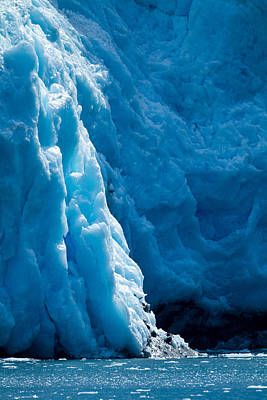 Glacier Blue Sapphire Poster by Adam Pender
