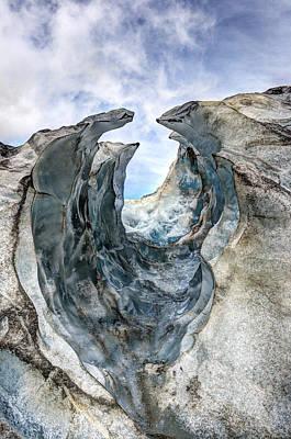 Glacier Impression Poster