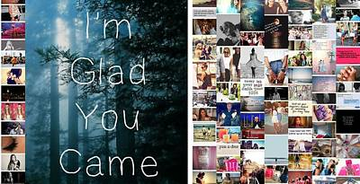 Glad You Came Poster by Holley Jacobs