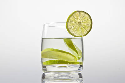 Glass With Lemonade Poster