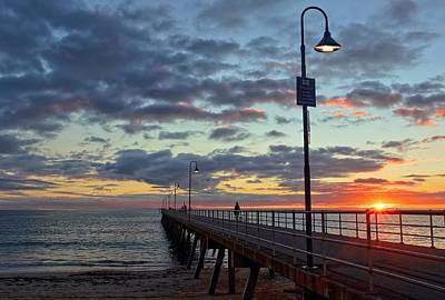 Poster featuring the photograph Glenelg Sunset by Paul Svensen
