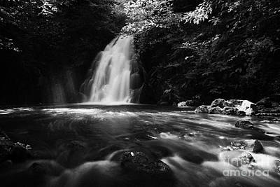 Gleno Or Glenoe Waterfall County Antrim Poster