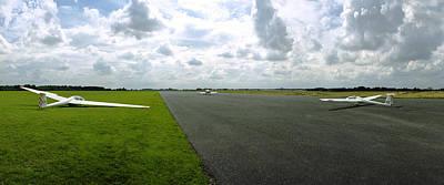 Gliders At Tibenham Poster by Jan W Faul