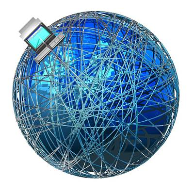 Global Communications, Conceptual Artwork Poster