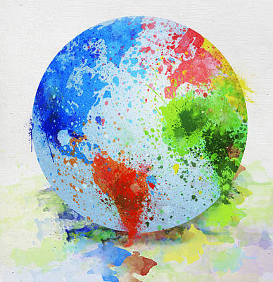 Globe Painting Poster by Setsiri Silapasuwanchai