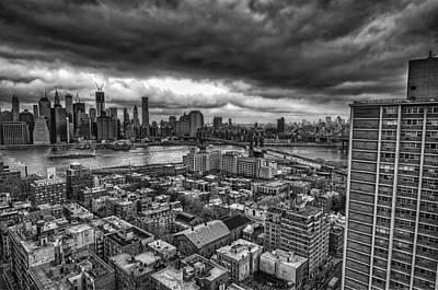 Gloomy New York City Day Poster