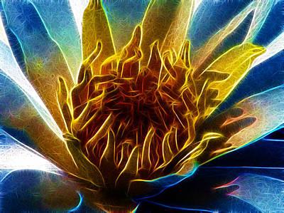 Glowing Lotus Poster