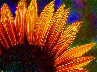 Glowing Sunflower Poster