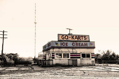 Go-karts - Wildwood New Jersey Poster by Bill Cannon