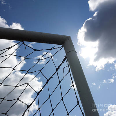 Goal Against Cloudy Sky Poster