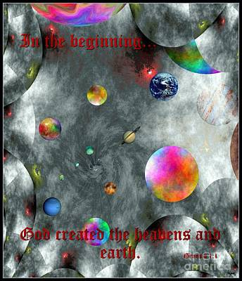 God Created Poster by Glenn McCarthy Art and Photography