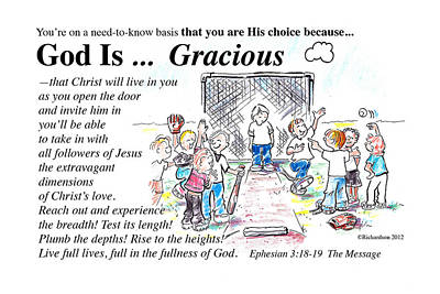 God Is Gracious Poster by George Richardson