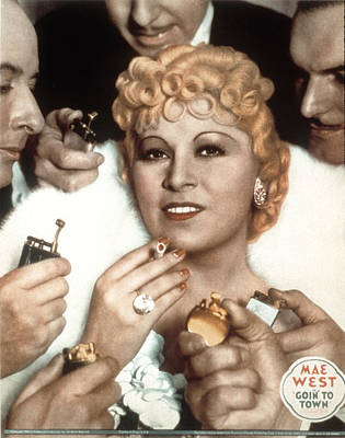 Goin To Town, Mae West, 1935 Poster by Everett