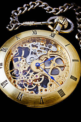 Gold Pocket Watch Poster