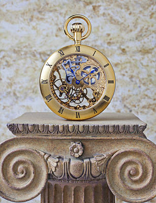 Gold Skeleton Pocket Watch Poster by Garry Gay