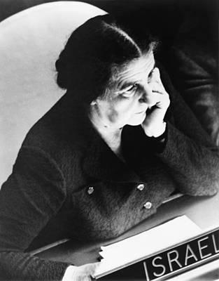 Golda Meir, Israels Foreign Minister Poster