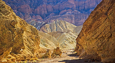 Golden Canyon At Death Valley Poster