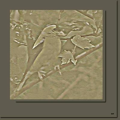 Golden Carved Finch Poster by Debra     Vatalaro