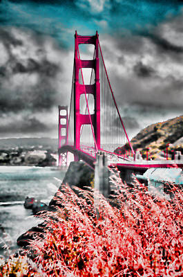 Poster featuring the photograph Golden Gate Bridge - 5 by Mark Madere