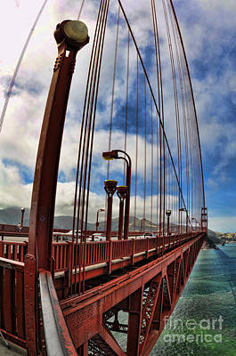Poster featuring the photograph Golden Gate Bridge - 7 by Mark Madere
