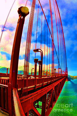 Poster featuring the photograph Golden Gate Bridge - 8 by Mark Madere