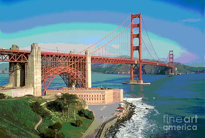 Golden Gate Bridge Bay Side Poster by Padre Art