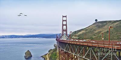 Golden Gate Bridge Poster by Betty LaRue
