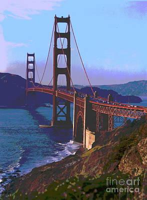 Golden Gate Bridge San Francisco Poster by Padre Art