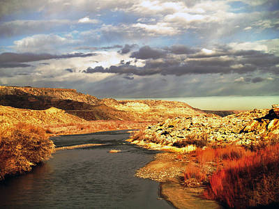 Golden San Juan River Poster