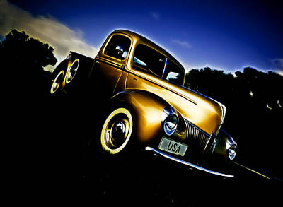 Golden V8 Poster by Phil 'motography' Clark