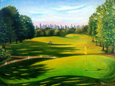 Golf Course At Forest Park Poster