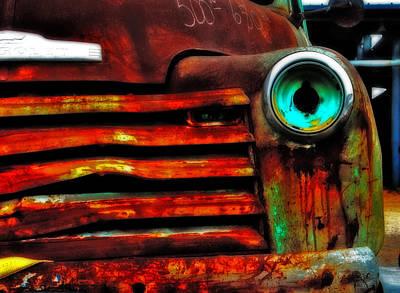 Rusty Truck Poster by Toni Hopper