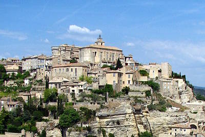 Gordes In Provence Poster by Carla Parris