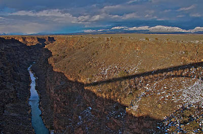 Poster featuring the photograph Gorge Bridge Shadow by Britt Runyon