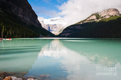 Poster featuring the photograph Gorgeous Lake Louise by Cheryl Baxter
