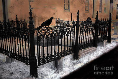 Gothic Cemetery Raven Poster