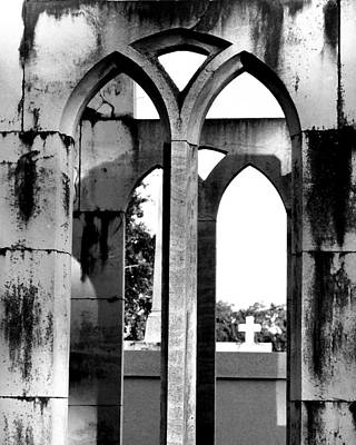Poster featuring the photograph Gothic Cross by Cheri Randolph