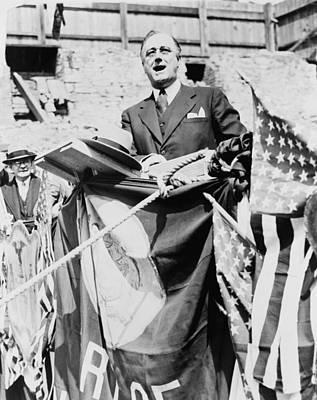 Gov. Franklin Roosevelt Speaking Poster