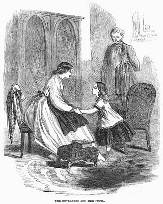 Governess And Child, C1860 Poster by Granger