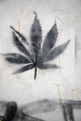 Graffiti Of A Marijuana Leaf Poster