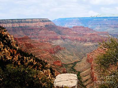 Grand Canyon With Smoke Poster