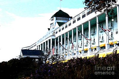 Poster featuring the photograph Grand Hotel Mackinac Island by Anne Raczkowski