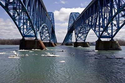 Poster featuring the photograph Grand Island Bridges by Darleen Stry