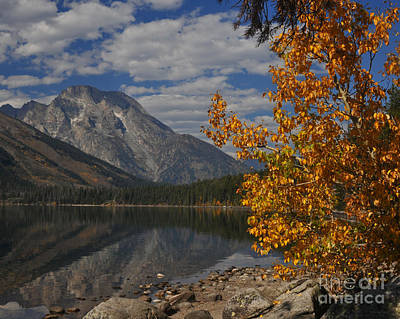 Grand Teton National Park Fall Cloud Mountain Reflections Poster