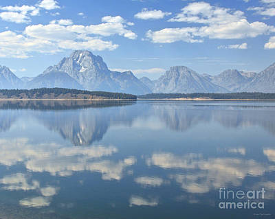 Grand Teton National Park Mountain Lake Reflctions Poster