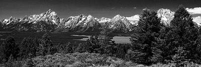 Poster featuring the photograph Grand Tetons by Dan Wells