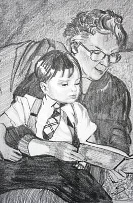 Grandma Reading Poster