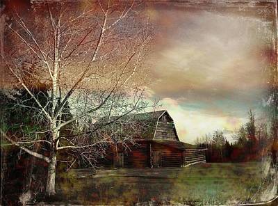 Grandpa's Barn Poster by Shirley Sirois