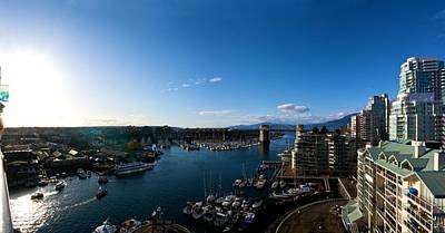Poster featuring the photograph Grandville Island In Yaletown Bc by JM Photography