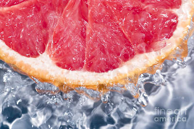 Grapefruit Water  Poster by Charlotte Lake